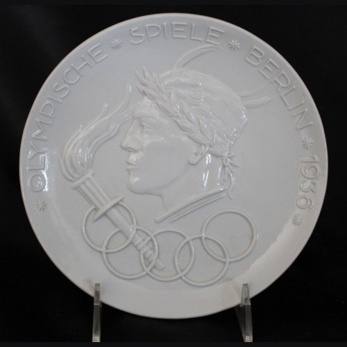 1936 Olympic Raised Relief Porcelain Plate