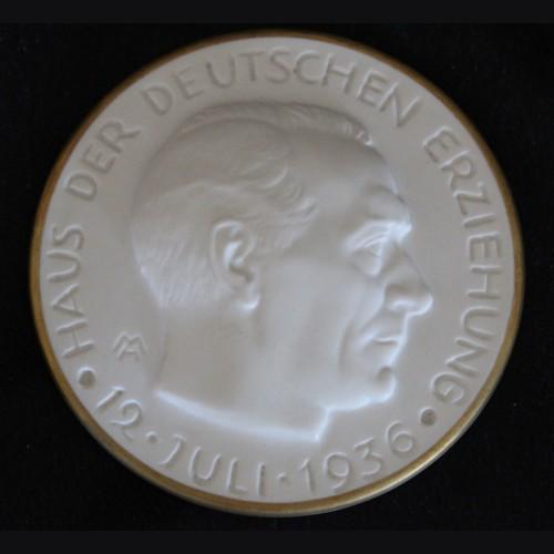 Rosenthal Porcelain Plaque- Haus Der Deutschen Erziehung 1936 # 3456