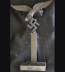 Standing Luftwaffe Pillar Bird in Bronze (J. Pabst)