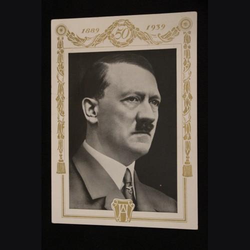 Adolf Hitler Birthday Postcard  # 3460