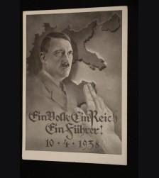 Ein Volk Ein Reich Ein Fuhrer Postcard # 3461