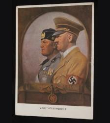 Adolf Hitler Benito Mussolini Postcard # 3468