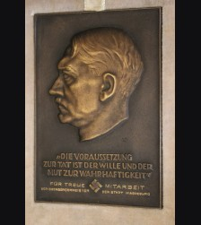 Bronze Presentation Adolf Hitler Plaque-Boxed