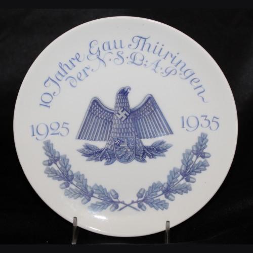 Gau Thuringen Anniversary Plate # 3474