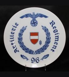 Meissen Regimental Plate- Artillery Regiment 96 # 3475