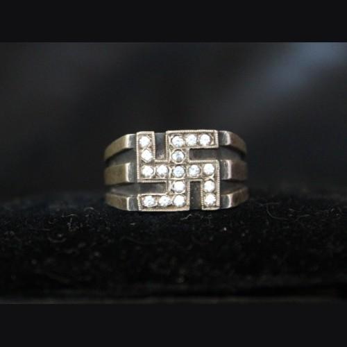 Men's Fahrner Swastika Ring .835