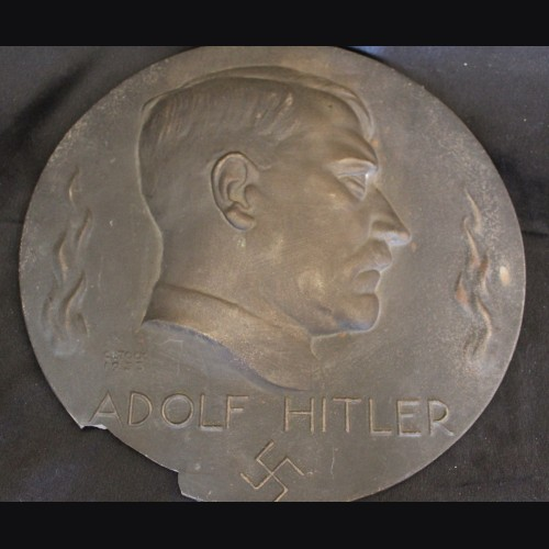 Adolf Hitler Bronze Plaque 1933 # 3488