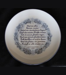 Allach Porcelain- 1944 Oswald Pohl Julfest Presentation Plate