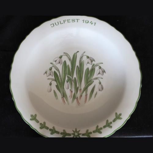 Allach Porcelain- 1941 Oswald Pohl Julfest Presentation Plate