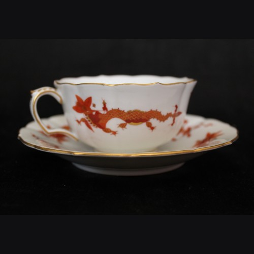 Meissen Red Dragon Cup and Saucer- Adolf Hitler (Berchtesgaden)