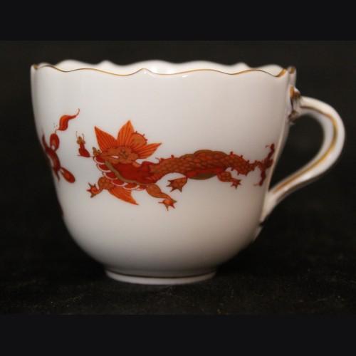 Meissen Red Dragon Demitasse Cup- Adolf Hitler (Berchtesgaden) # 3501