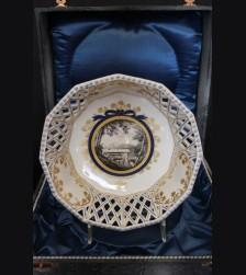 Boxed Royal Bavarian Kings Service Reticulated Bowl- Berghof ( Nymphenburg ) # 3502
