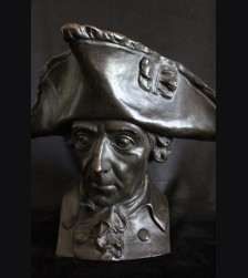 Frederick the Great Bronze Bust- Alte Fritz  (Lauchhammer) # 3282