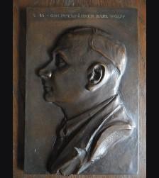 Bronze Plaque SS Gruppenfuhrer Karl Wolff (Othmar Schrott-Vorst) 1939