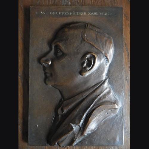 Bronze Plaque SS Gruppenfuhrer Karl Wolff (Othmar Schrott-Vorst) 1939 # 3054