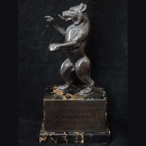 Bronze Berliner Bear Presentation- General Fritz Bayerlein # 3062