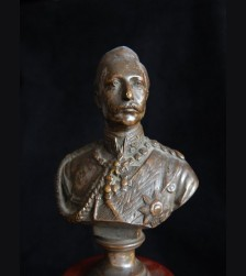 Wilhelm II Gladenbeck Bronze Pedastal Bust