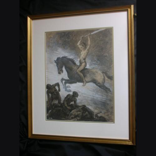 Original Albert Reich Artwork- Ride of the Valkyrie # 3002