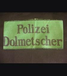 Polizei interpreter Armband # 3049