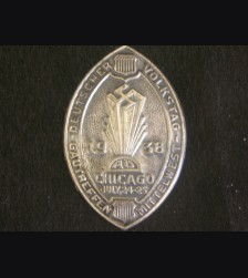 American Bund Gautag 1938 Chicago Badge # 3076