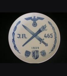 Regimental Plate I/465- Meissen # 3125