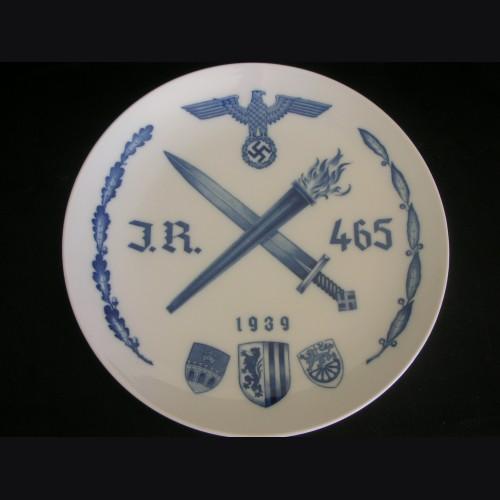 Regimental Plate I/465- Meissen
