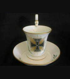 Iron Cross Patriotic Cup and Saucer- Meissen