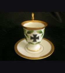 Iron Cross Patriotic Cup and Saucer- Rosenthal