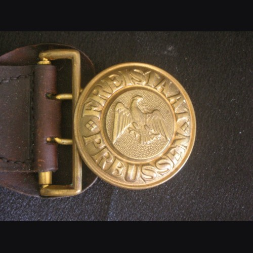 Weimar Prussian Officers Buckle ( Schutzpolizei ) # 3183