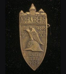 Nuremberg 1929 Rally Badge in Bronze