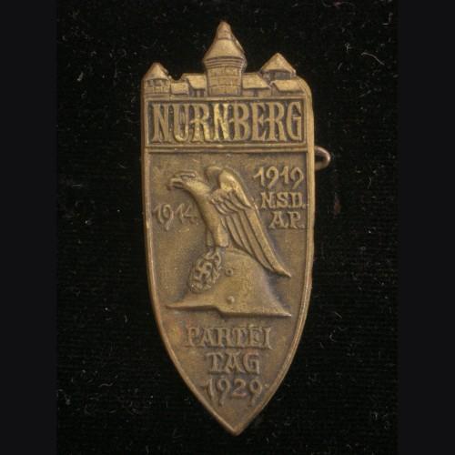 Nuremberg 1929 Rally Badge in Bronze # 3190