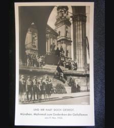 Munich Feldherrnhalle HJ Postcard # 3223