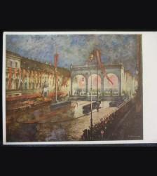 Munich Feldherrnhalle Postcard- Haus der Deutschen Kunst # 3224