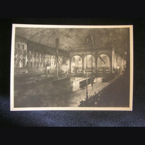 Munich Feldherrnhalle Postcard- Haus der Deutschen Kunst # 3225