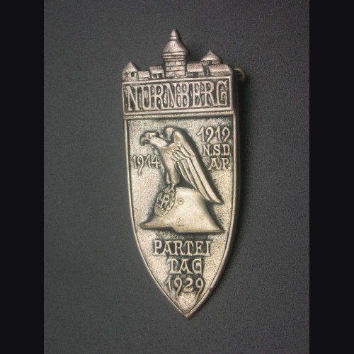 Nuremberg 1929 Rally Badge in Silver # 3191