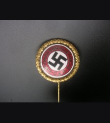 Gold Party Badge- 30mm Deschler  # 3154