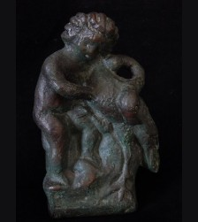 Putto and Flamingo- Otto Placzek (1884-1968)  # 3123