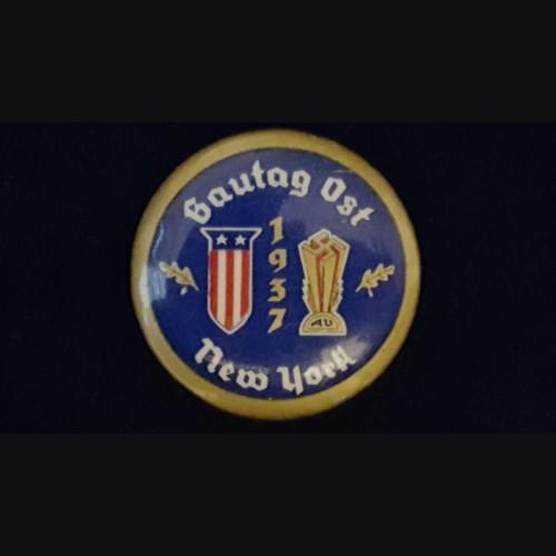 American Bund Gautag 1937 New York Badge # 3078