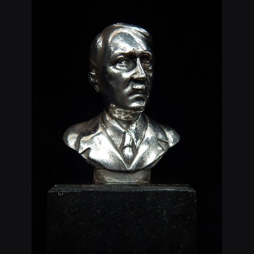 Adolf Hitler Desk Bust in Silver