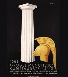 Original 1934 Munich Art Exhibition Poster- Heinrich Eschle