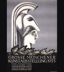Original 1935 Munich Art Exhibition Poster- Anton Sailer # 3271