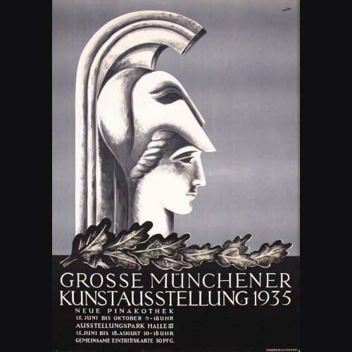 Original 1935 Munich Art Exhibition Poster- Anton Sailer