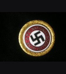 Gold Party Badge 30mm Deschler- Leopold Auer  # 1044
