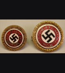 Gold Party Badges Matched Set- Leopold Wittmann  # 1052