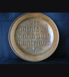 National Socialist Wall Plate # 1064