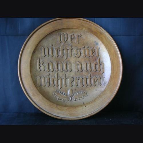 National Socialist Wall Plate # 1064