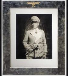 Hermann Goering Silver Presentation Frame # 1077
