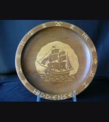 Wooden Hiddensee Plate # 1082