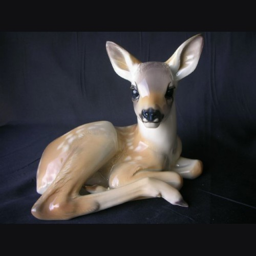 Allach Porcelain Lying Fawn #41 ( Color ) # 1120
