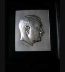 Framed Propaganda Tin Plaque- Adolf Hitler # 1126